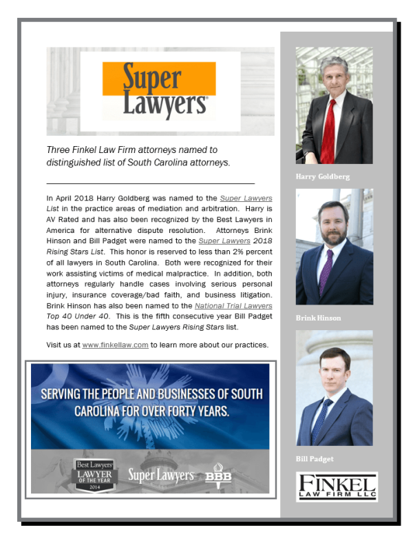 Super Lawyers recognition article